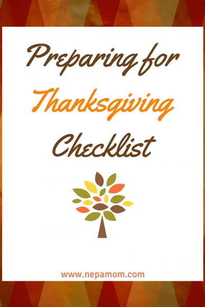Thanksgiving Dinner Preparation Checklist