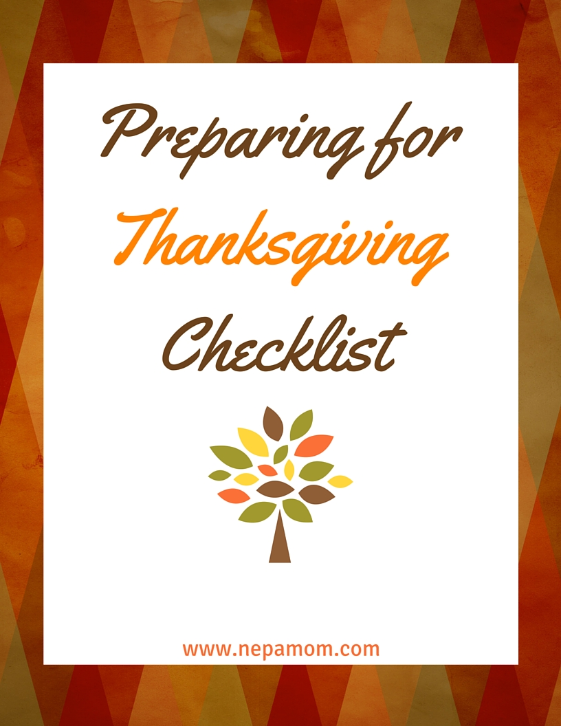 Preparing For Thanksgiving Checklist