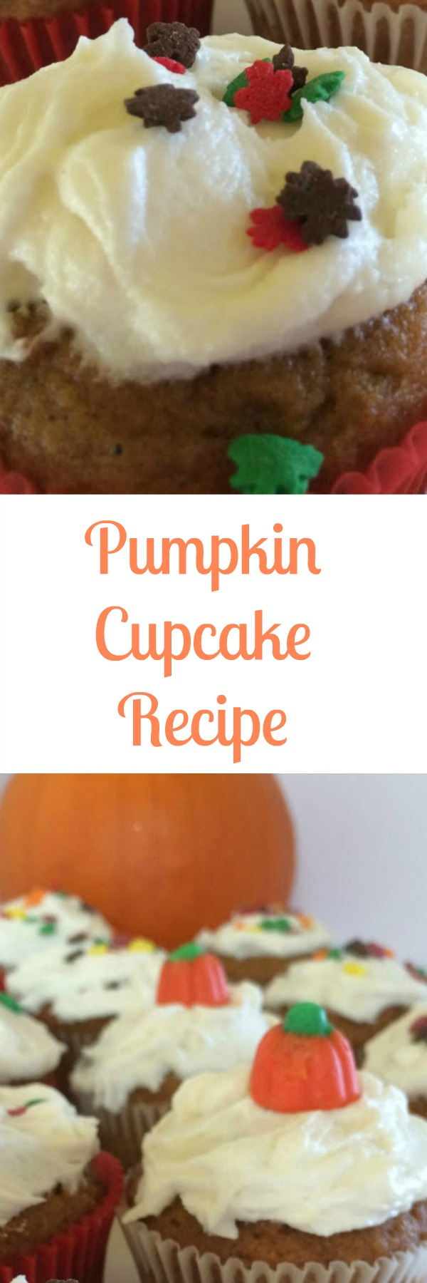 This easy Pumpkin Cupcake recipe is a great, kid friendly alternative to pumpkin pie during your Fall and Thanksgiving parties. Easy to make and they taste great too!