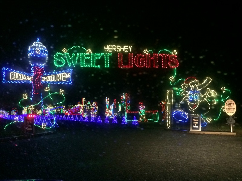 Entrance to Sweet Lights at #Hersheypark #ad