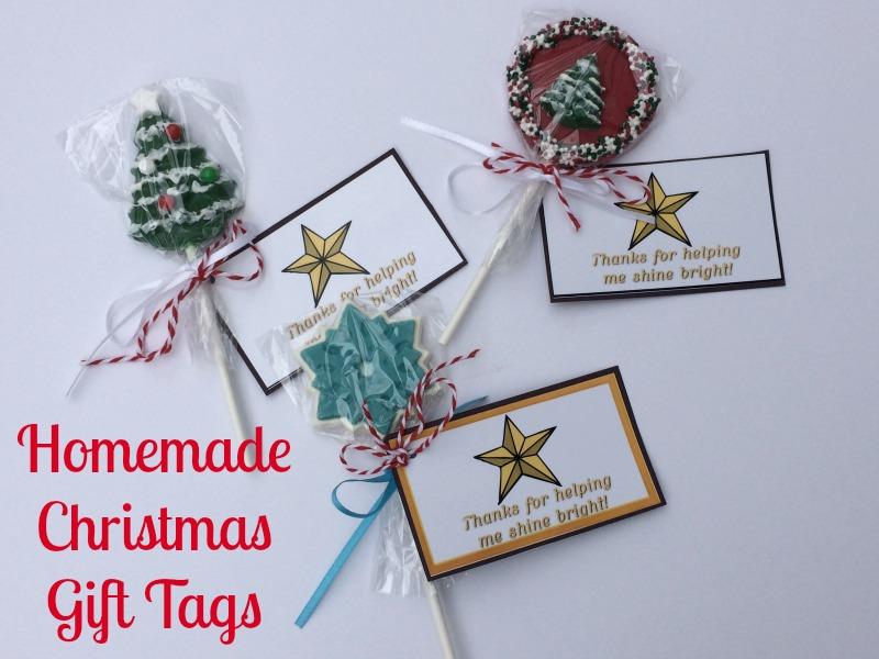 Homemade Christmas Gift Tags #ad