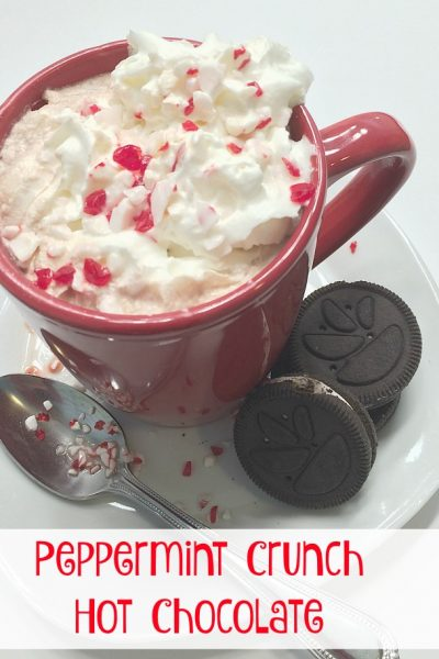 Peppermint Crunch Hot Chocolate