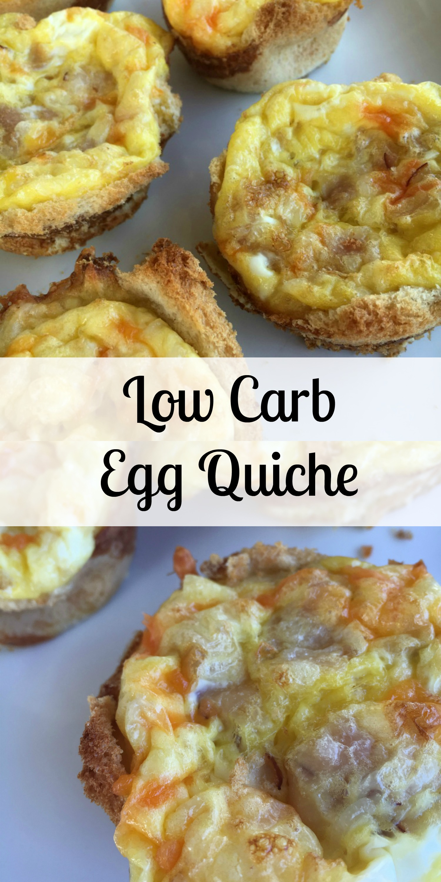 Egg Quiche--perfect breakfast for busy mornings! Just grab and go!