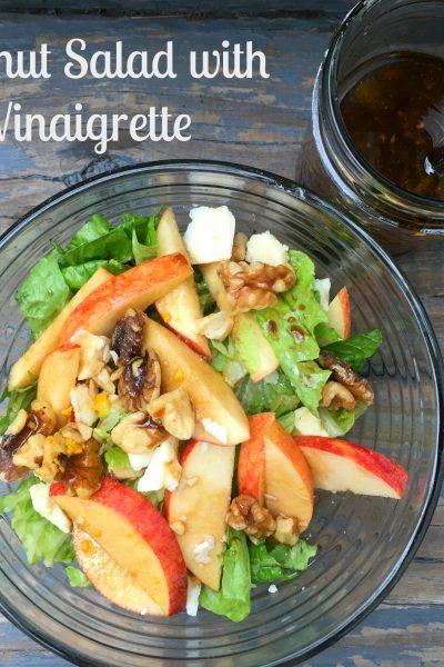 Apple Walnut Salad with Balsamic Vinaigrette Dressing