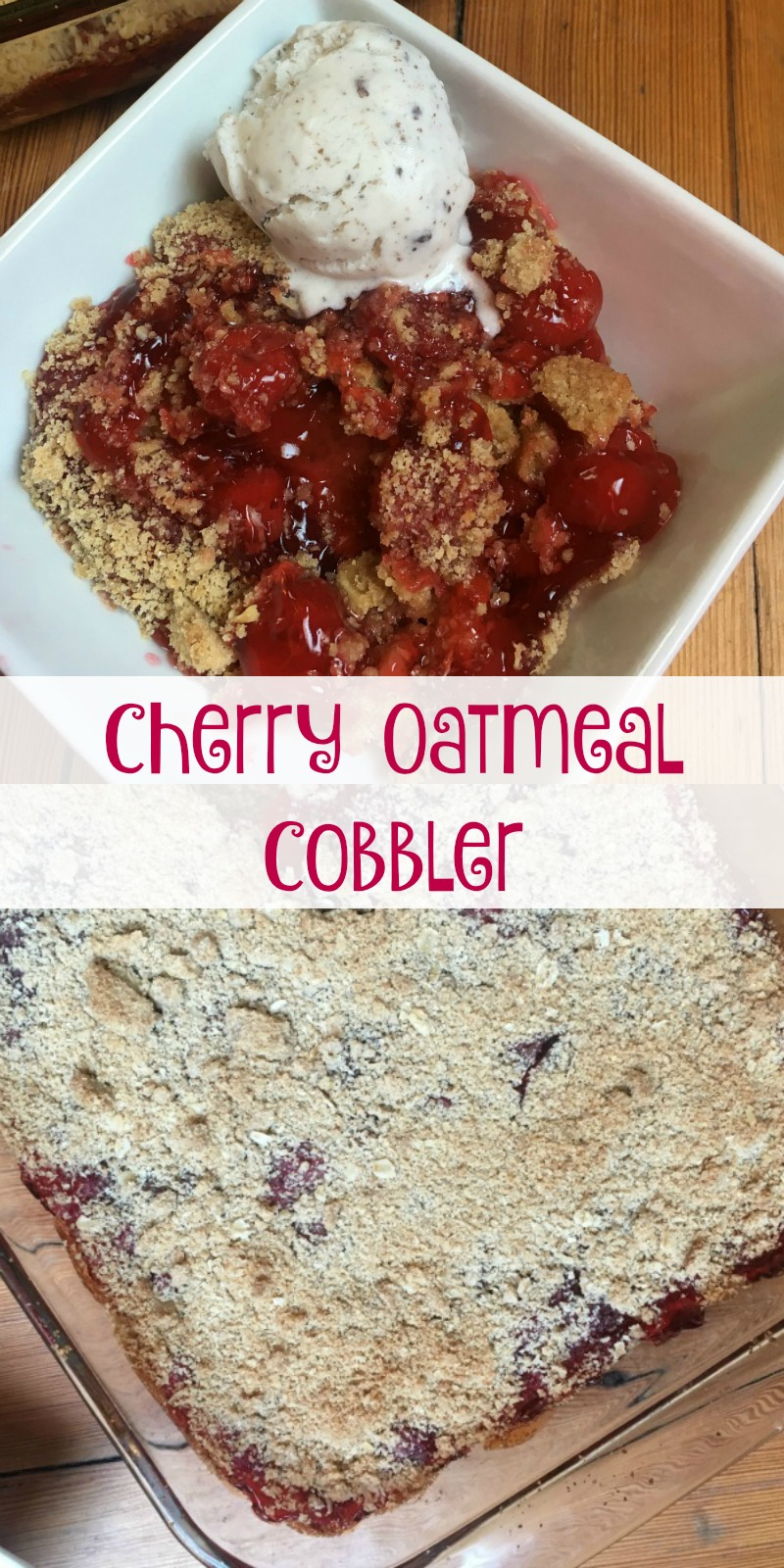Cherry Oatmeal Cobbler is the perfect sweet and tart treat!