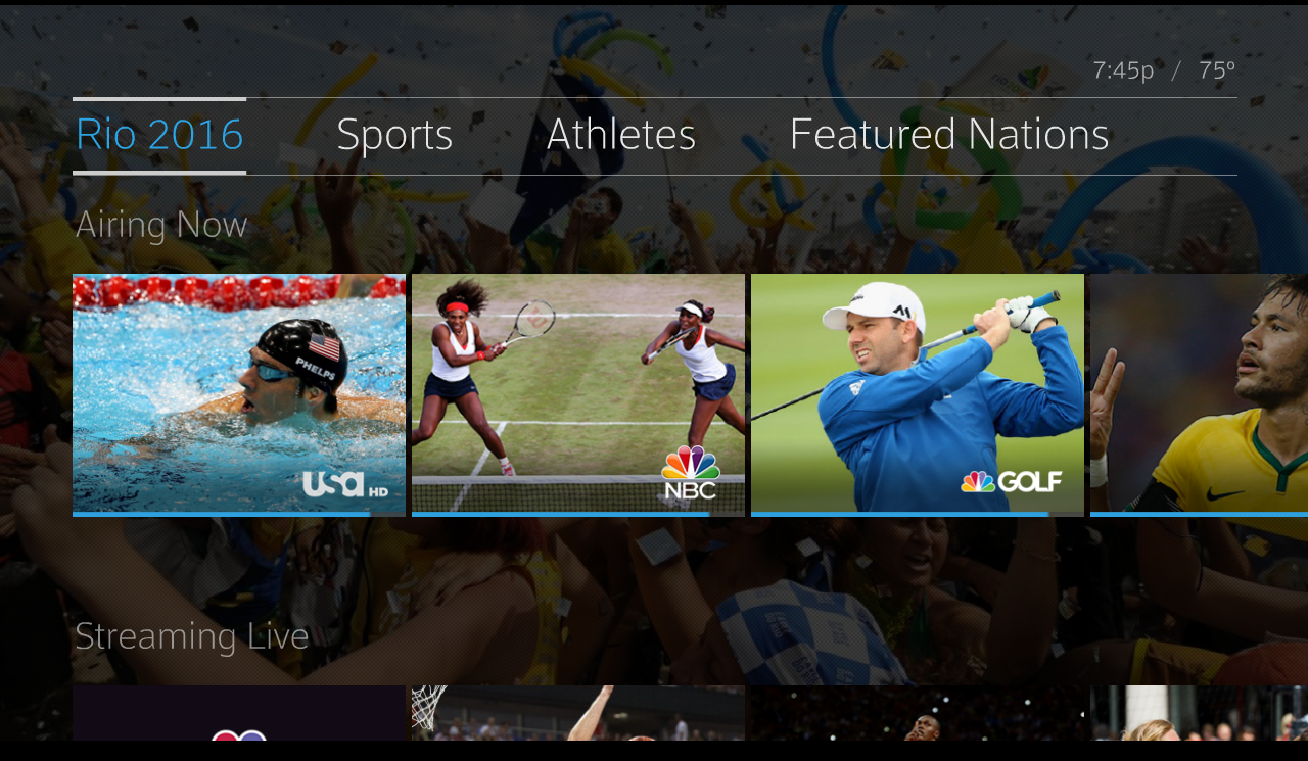 Rio Hub Page--Xfinity X1 makes Olympic Viewing easy