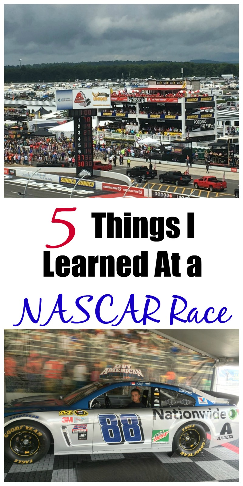 5 Things I Learned at a NASCAR Race!