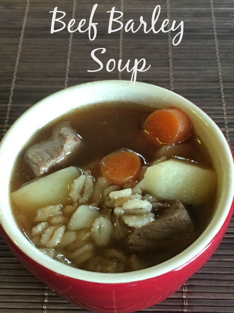 Beef Barley Soup--perfect comfort food for cold winter nights!