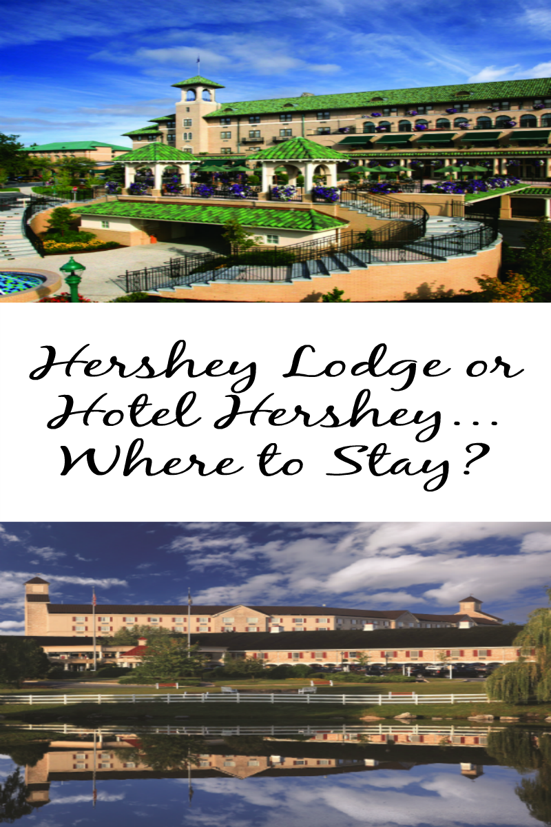 Hershey Lodge or Hotel Hershey...where to stay? Traveling with the kids? Wondering where to stay when visiting Hersheypark? Check out my list of reasons to stay at each hotel to help you make your decision! #Sweetestmoms