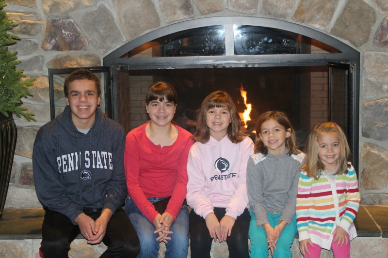 Sitting by the fireplace at the Hershey Lodge is such a great way to unwind after a busy day! #SweetestMoms