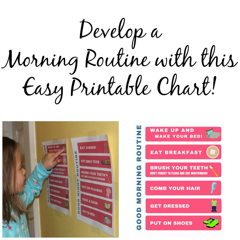 Develop a Morning Routine with this Easy Printable Chart #GoodCleanFun