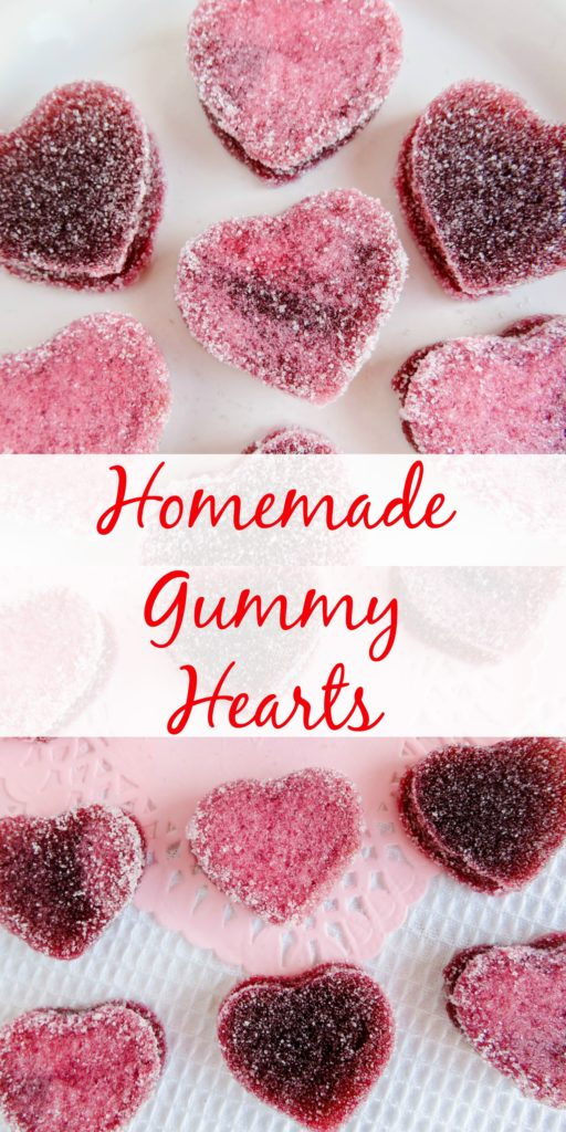 Homemade Gummy Heart candy  on paper towel