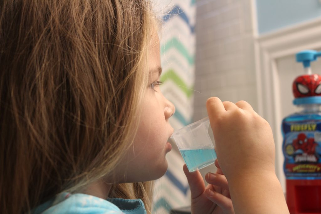 The cup helps them measure out the perfect amount of mouthwash to use! #GoodCleanFun