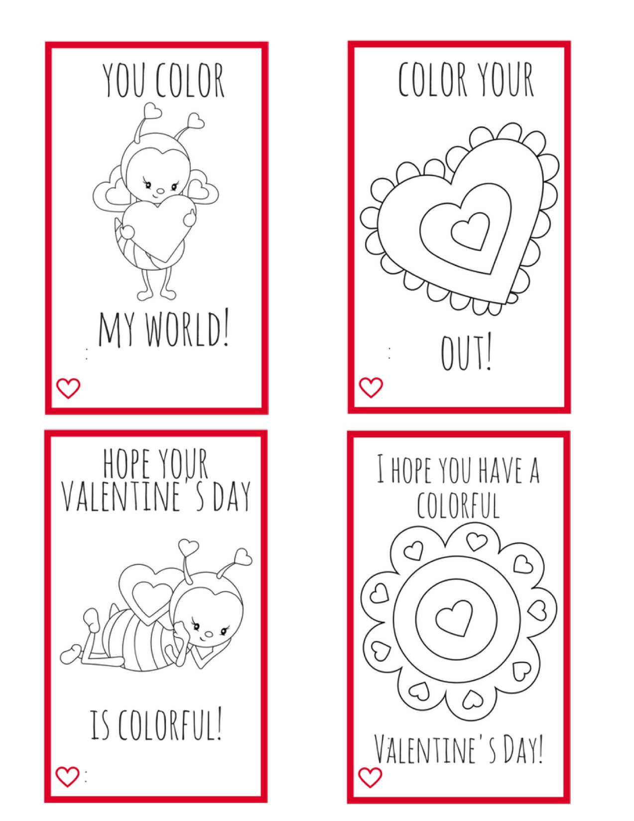 Printable Valentine Cards for Kids--perfect for kids to make ...