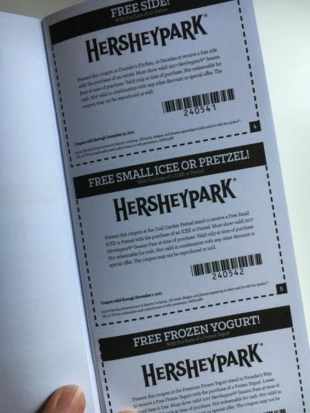When you become a Season Pass holder at Hersheypark you get a coupon book full of money saving coupons! #Sweetestmoms