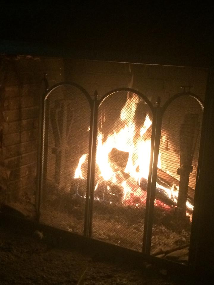 Noting says date night like a cozy fire! #ServeWithACoke #ShopRite #ad