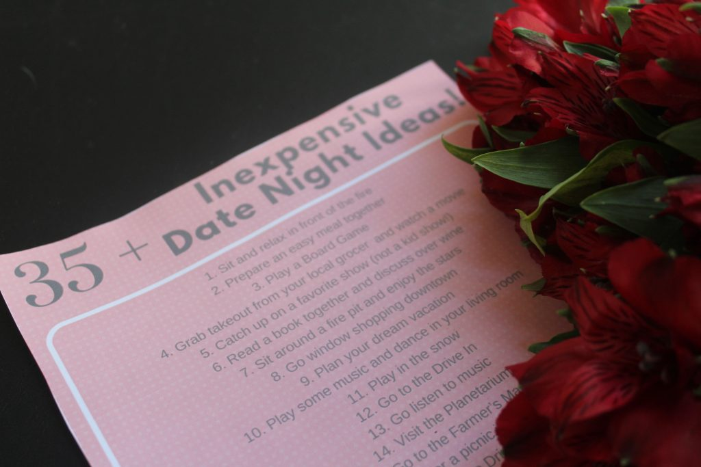 Need some Inexpensive Date Night Ideas for both at home and around town? Make sure to print this out for some inspiration and take your date night to the next level! #ServeWithACoke #ShopRite #ad