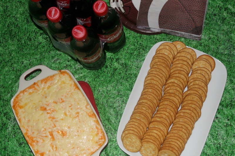 This Easy Franks Buffalo Chicken Dip goes great with Ritz Crackers, making it the perfect snack!