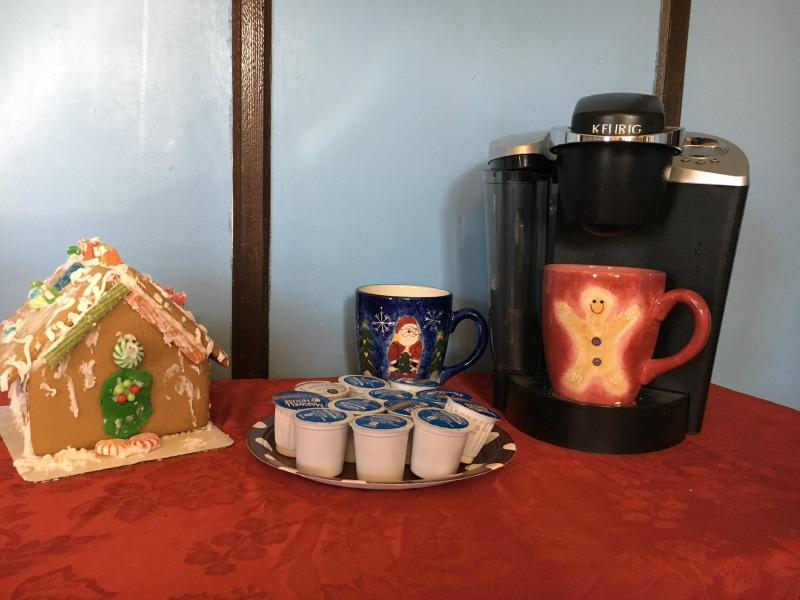 Set up a hot chocolate and coffee bar ahead of time so that on Christmas morning everyone can help themselves to a warm drink.