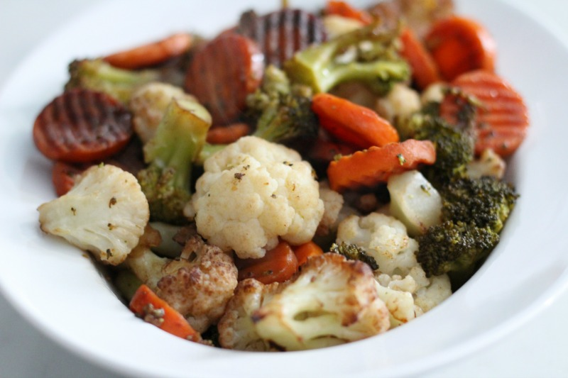 Bowl of Balsamic Roasted Vegetables