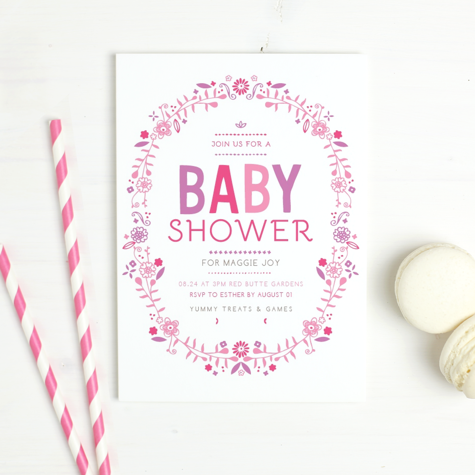 I Especially Love These Baby Shower Invitations For A Girl,