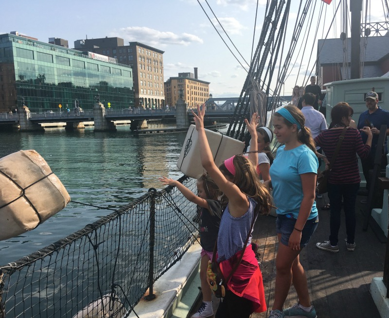 Help toss the tea overboard into Boston Harbor at the Boston Tea Party Museum.