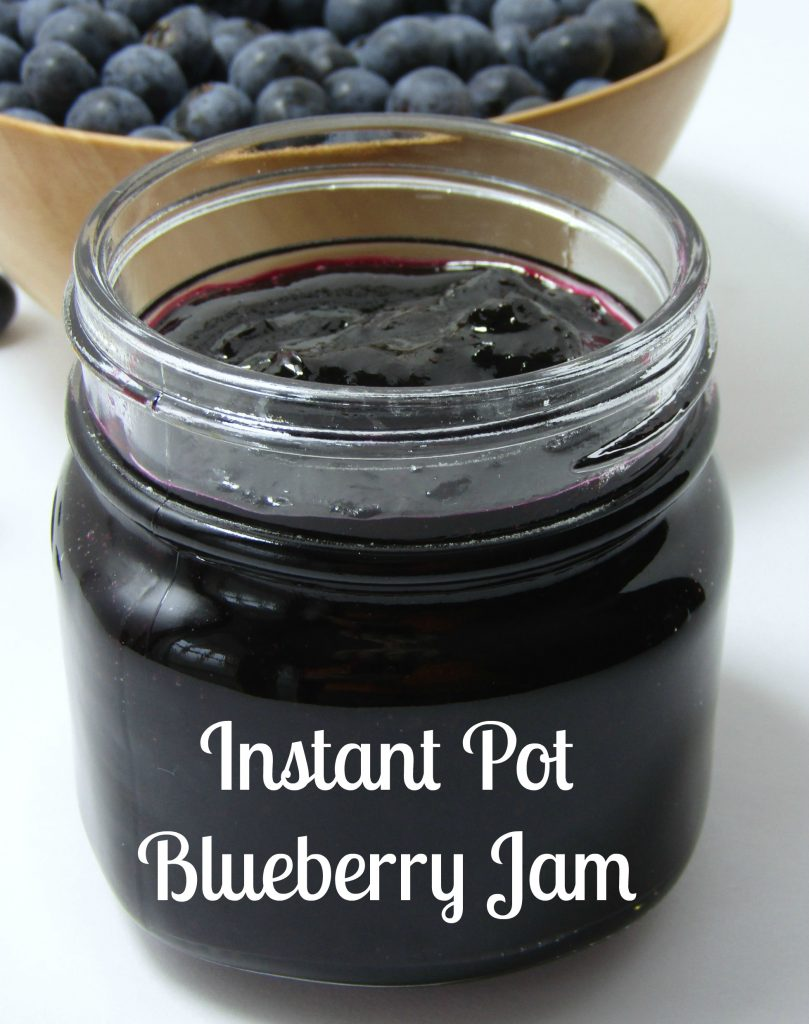 This yummy Instant Pot Blueberry Jam is easy to make and tastes great!